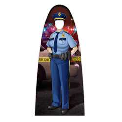 "Female Jr. Police Officer Photo Prop 33.5"" x 74"" police, police officer, cut out, photo prop, male, male police officer, police department, officer, stand up, corrugated plastic, indoor use, outdoor use, custom, imprinted"