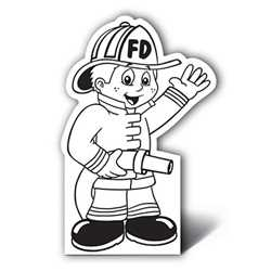 Fire Boy Color-Me Stand-Out firefighting, fire safety product, fire prevention, color me, boy firefighter, firefighter, stand out
