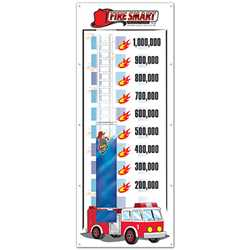 "Fire Department Fundraising Banner - 38"" x 96"""