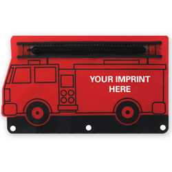 Fire Engine School Pouch firefighting, fire safety product, fire prevention, pouches, vinyl pouches, pencil case
