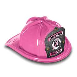 Fire Hat - Custom Pink Ribbon Maltese