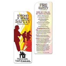 Fire Safety Bookmark firefighting, fire safety product, fire prevention, bookmark, fire safety, emergencies, emergency