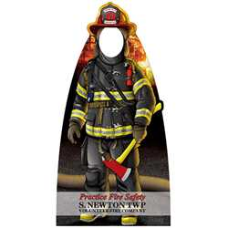 "Firefighter Photo Prop - 30.5"" x 60""  firefighting, fire safety product, fire prevention, cut outs, photo props, firefighter"
