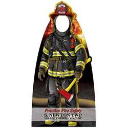 "Firefighter Photo Prop - 38"" x 74"" firefighting, fire safety product, fire prevention, cut outs, photo props, firefighter"