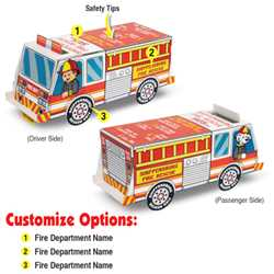 Full Color Paper Fire Truck Fire Truck, Fire, Truck, Safety, Color-Me