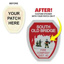 Full Custom Patch Stickers firefighting, fire safety product, fire prevention, fire safety stickers, fire prevention stickers