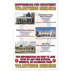 "Full Custom Poster - 14"" x 22-1/2"" firefighting, fire safety product, fire prevention, full custom banner, custom, vinyl banner, indoor and outdoor use, imprinted"