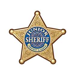 Gold 5-Point Sheriff Sticker Badge