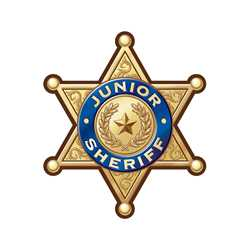 Gold 6-Point Sheriff Sticker Badge
