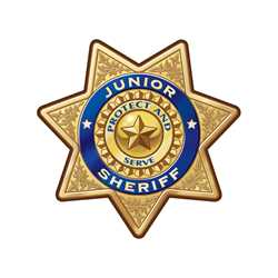 Gold 7-Point Sheriff Sticker Badge