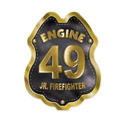 Imprinted Black&Gold Engine Number Sticker Badge firefighting, fire safety product, fire prevention, fire sticker, firefighting sticker, custom sticker, custom firefighter sticker, engine number sticker