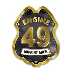 Imprinted Black&Gold Engine Number/Text Sticker Badge firefighting, fire safety product, fire prevention, fire sticker, firefighting sticker, custom sticker, custom firefighter sticker, engine number sticker