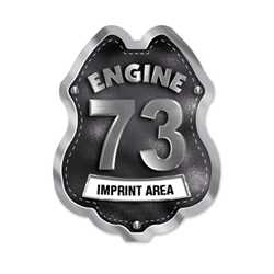 Imprinted Black&Silver Engine Number/Text Sticker Badge firefighting, fire safety product, fire prevention, plastic fire badge, firefighting badge, custom badge, custom firefighter badge, engine number badge