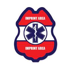 Imprinted Jr Paramedic RWB Sticker Badge