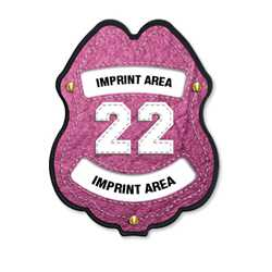 Imprinted Paramedic Pink Plastic Clip-On Badge