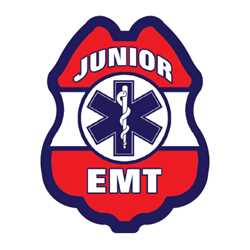 Jr. EMT Red, White & Blue Sticker Badge