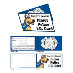 Paper Jr. Police I.D. Card police, educational, id card, safety, public safety, card stock, junior police, police officer, identification, card id