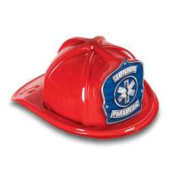Jr Paramedic Hat - Blue/Silver Star of Life Shield firefighting, fire safety product, fire prevention, plastic fire hats, fire hats, kids fire hats, junior firefighter hat, junior fire chief hat