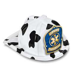 Jr Paramedic Specialty Hat - Blue/Gold Star of Life Shield firefighting, fire safety product, fire prevention, plastic fire hats, fire hats, kids fire hats, junior firefighter hat, junior fire chief hat