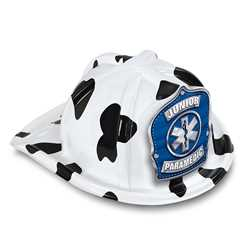 Jr Paramedic Specialty Hat - Blue/Silver Star of Life Shield firefighting, fire safety product, fire prevention, plastic fire hats, fire hats, kids fire hats, junior firefighter hat, junior fire chief hat