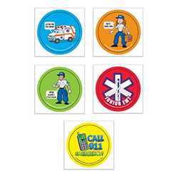 Junior EMT Fun Stickers firefighting, fire safety product, fire prevention, fire safety stickers, fire prevention stickers, junior emt stickers, emt stickers, first aid stickers, emergency prevention stickers