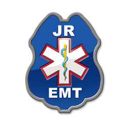 Junior EMT Sticker Badge EMT badge, kids EMT badge, junior EMT badge, EMT plastic badge, fire prevention products, fire safety products, fire fighting