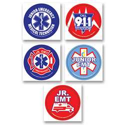 Junior EMT Stickers firefighting, fire safety product, fire prevention, fire safety stickers, fire prevention stickers, junior emt stickers, emt stickers, first aid stickers, emergency prevention stickers
