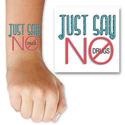 Just Say No to Drugs Tattoo
