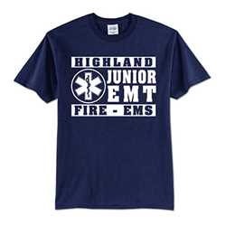 Kids T-Shirt - 1-Color Imprint Design 2 firefighting, fire safety product, fire prevention, youth shirts, firefighting t-shirt, kids fire department shirt, fire dept. shirt