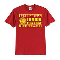 Kids T-Shirt - 1-Color Imprint Design 3 firefighting, fire safety product, fire prevention, youth shirts, firefighting t-shirt, kids fire department shirt, fire dept. shirt