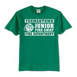 Kids T-Shirt - 1-Color Imprint Design 5 firefighting, fire safety product, fire prevention, youth shirts, firefighting t-shirt, kids fire department shirt, fire dept. shirt