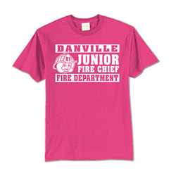 Kids T-Shirt - 1-Color Imprint Design 6 firefighting, fire safety product, fire prevention, youth shirts, firefighting t-shirt, kids fire department shirt, fire dept. shirt