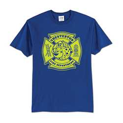 Kids T-Shirt - 1-Color Imprint Design 8 firefighting, fire safety product, fire prevention, youth shirts, firefighting t-shirt, kids fire department shirt, fire dept. shirt