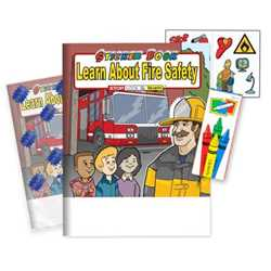 Learn About Fire Safety Sticker Book Fun Pack - Stock funpack, sticker books, fire safety sticker book, promotional fun pack, fire smart,