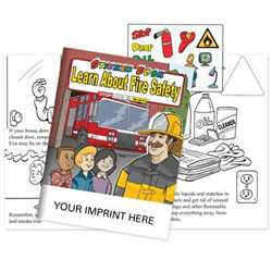 Learn About Fire Safety Sticker Book - Imprinted Fire safety sticker book, fire safety, sticker books, activity books, promotional sticker books