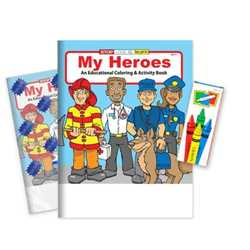 My Heroes Coloring Book Fun Pack - Stock firefighting, fire safety product, fire prevention product, firefighting coloring book, firefighting activity book, fire safety coloring book, fire safety activity book, fire prevention coloring book, fire prevention activity book