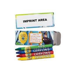 Police Non-Toxic Crayons w/ Imprinted Box