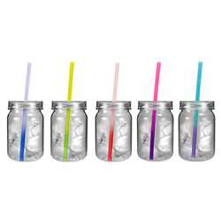 Plastic Mason Jar with Mood Straw firefighting, fire safety product, fire prevention