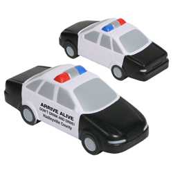 Police Car Stress Reliever Police, safety product, educational, stress reliever, police car stress reliever, imprinted, imprinted police car