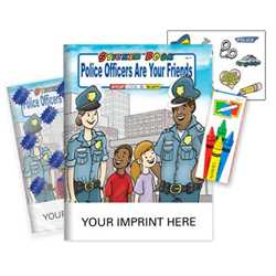 Police Officers Are Your Friends Sticker Book Fun Pack - Imprinted police safety, police outreach, police friends, fun packs, sticker books, promotional books, kids