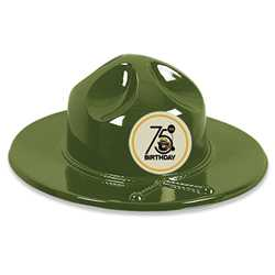 Ranger Hat with Smokey Bear 75th Sticker firefighting, fire safety product, fire prevention, smokey, smokey bear,plastic hat, trooper hat, stock, smokey hat, kids hat, kids, hat, trooper