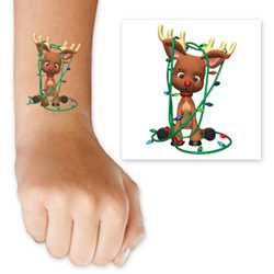 Reindeer with Lights Tattoo