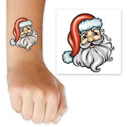 Santa Face Tattoo