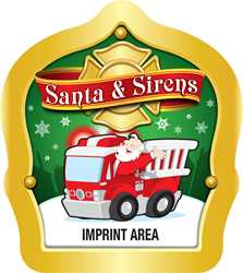 Santa & Sirens - Custom Imprint firefighting, fire safety product, fire prevention, plastic fire hats, fire hats, kids fire hats, junior firefighter hat, cheap fire hat, childrens fire hat, red fire hat