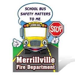 "School Bus Photo Prop - 45"" x 60"" firefighting, fire safety product, fire prevention, cut outs, photo props, firefighter, photo prop, cut out"