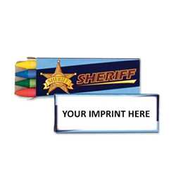 Sheriff Non-Toxic Crayons w/ Imprinted Box