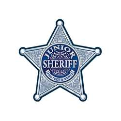 Silver 5-Point Sheriff Sticker Badge Police, safety product, educational, sticker police badge, police officer badge, stock badge, stock police badge, stock sticker badge, stock silver badge, junior sheriff badge, sheriff badge,