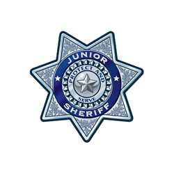 Silver 7-Point Sheriff Sticker Badge Police, safety product, educational, sticker police badge, police officer badge, stock badge, stock police badge, stock sticker badge, stock silver badge, junior sheriff badge, sheriff badge,