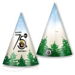 Smokey Bear 75th Cone Hat firefighting, fire safety product, fire prevention, smokey, smokey bear, sticker badge, badge, sticker, bear, stock