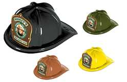 Smokey Bear Fire Safety Club Fire Hat firefighting, fire safety product, fire prevention, smokey, smokey bear, plastic fire hat, plastic, fire safety club, hats, bear, fire hat, stock